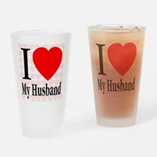 I Love My Husband Drinking Glass