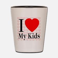 I Love My Kids Shot Glass