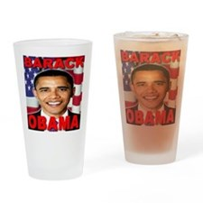 Barack Obama USA Flag Drinking Glass