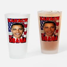 Barack Obama USA Flag Drinking Glass