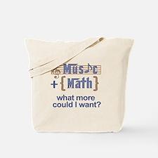 Music plus math Tote Bag
