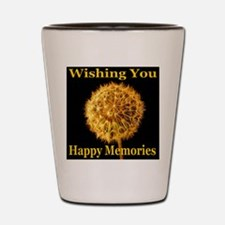 Wishing You Happy Memories Shot Glass