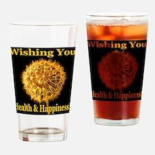 Wishing You Health & Happines Drinking Glass