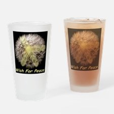 Wish For Peace Dandelion Drinking Glass
