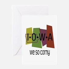 Iowa We So Corny Greeting Card
