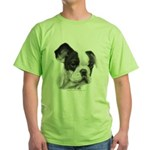 French Bulldog Green T-Shirt