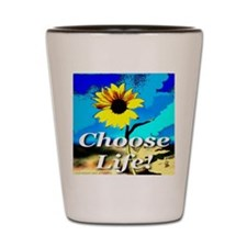 Choose Life Pure White Shot Glass
