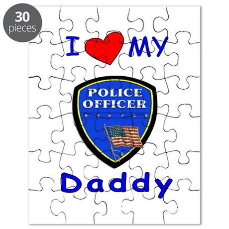 I Love Police Officer Daddy Puzzle