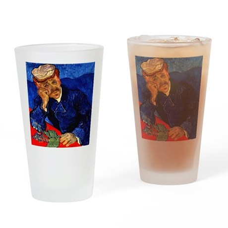Dr. Gachet in Blue Drinking Glass