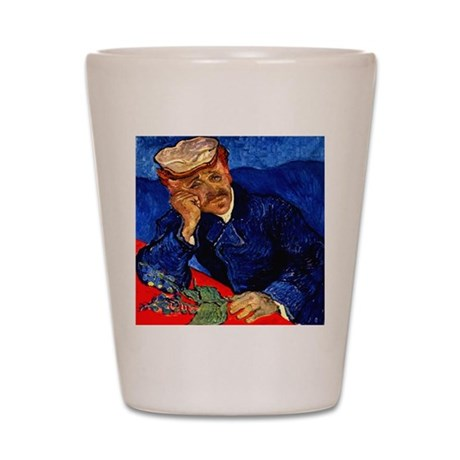 Dr. Gachet in Blue Shot Glass