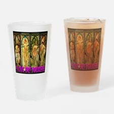 I Love Art Nouveau Drinking Glass