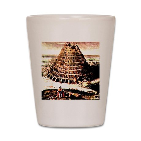 Tower of Babel Shot Glass