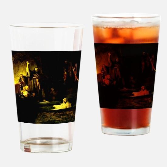 Raising of Lazarus Rembrandt Drinking Glass