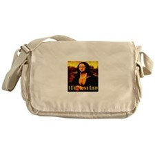 I Did Mona Lisa Messenger Bag