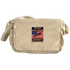 9-11-2001 We Will Never Forge Messenger Bag
