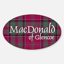 Tartan - MacDonald of Glencoe Sticker (Oval)