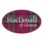 Tartan - MacDonald of Glencoe Sticker (Oval 10 pk)