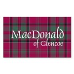 Tartan - MacDonald of Glencoe Sticker (Rectangle)