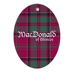 Tartan - MacDonald of Glencoe Ornament (Oval)