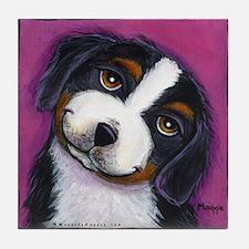 Bernise Mountain Dog Tile Coaster