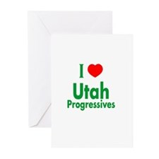 I Love Utah Progressives Greeting Cards (Package o