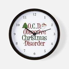 Christmas Crazy Wall Clock
