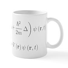 Schrodinger equation, delta, black Mugs