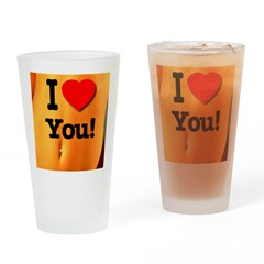 I Love You! Drinking Glass