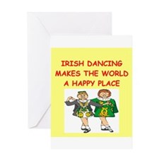 irish dancing Greeting Card