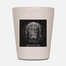 Jesus Loves You! Shroud of Tu Shot Glass