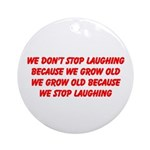 growing old merchandise Ornament (Round)