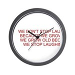 growing old merchandise Wall Clock