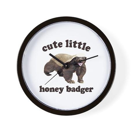 Cute Lil Honey Badger Wall Clock