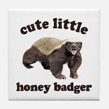 Cute Lil Honey Badger Tile Coaster
