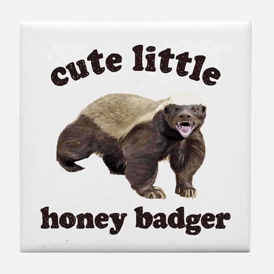 Cute Lil Honey Badger Tile Coaster