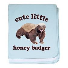Cute Lil Honey Badger baby blanket