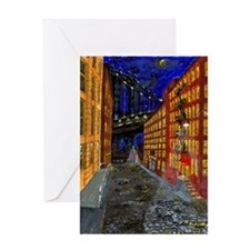 Manhattan Bridge Evening Greeting Card
