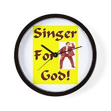 """""""Singer For God"""" Wall Clock"""