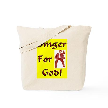 """""""Singer For God"""" Tote Bag"""
