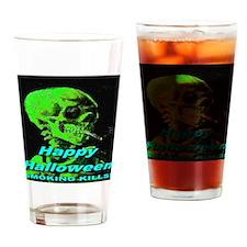 Happy Halloween Smoking Kills Drinking Glass