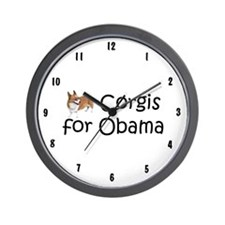 Corgis for Obama Wall Clock