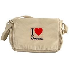 I Love Therese Messenger Bag