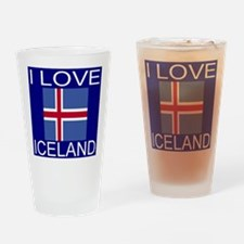 I Love Iceland Drinking Glass
