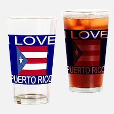 I Love Puerto Rico Drinking Glass