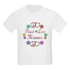 Peace Love Missouri T-Shirt