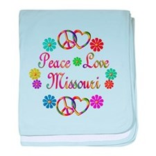 Peace Love Missouri baby blanket