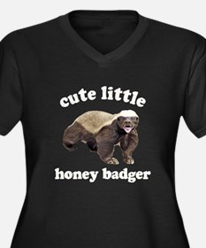 Cute Lil Honey Badger Women's Plus Size V-Neck Dar