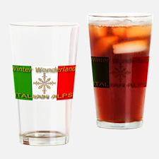 Winter Wonderland Italian Alp Drinking Glass
