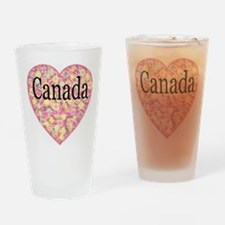 LOVE Canada Drinking Glass