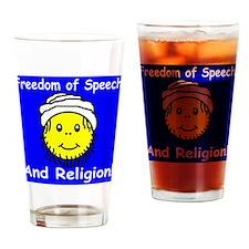 Freedom of Speech and Religio Drinking Glass